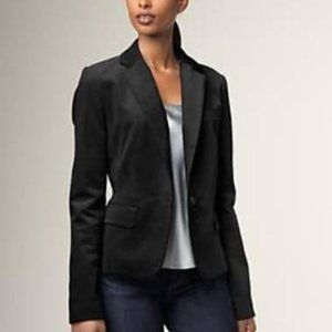 NWT Talbots Kate Fit Jacket Blazer Black Sz 4 NEW